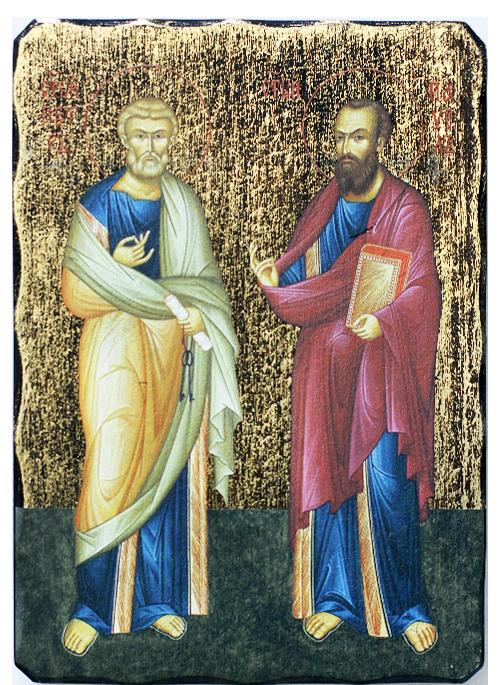Икона репродукция на Свети първовърховни апостоли Петър и Павел