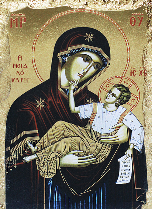 Икона на Божията майка с Играещия Младенец
