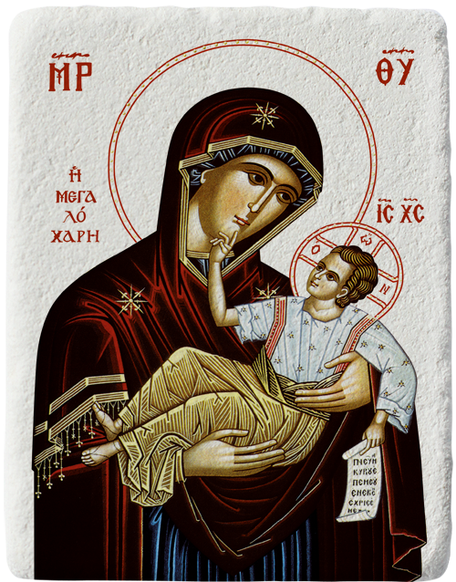 Магнит на Света Богородица с Младенеца