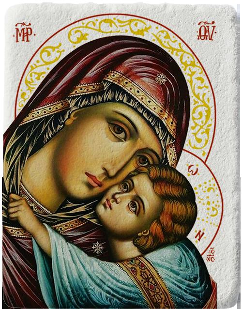 Магнит на Света Богородица с Младенеца - Елеуса - Умиление