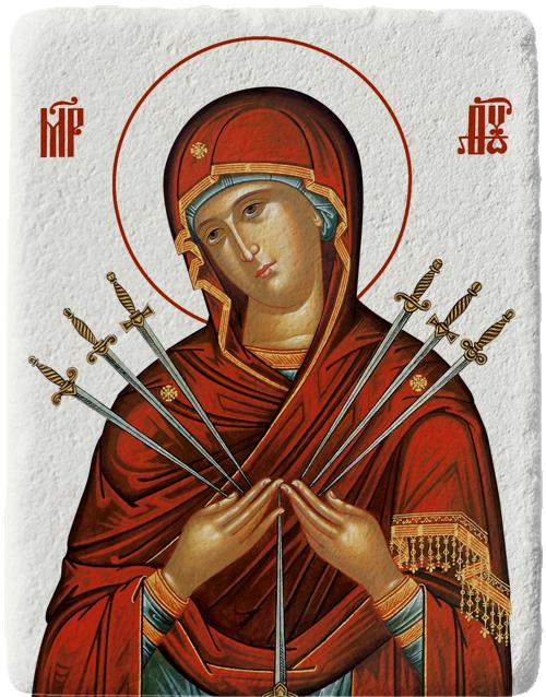 Магнит на Света Богородица Седмострелна
