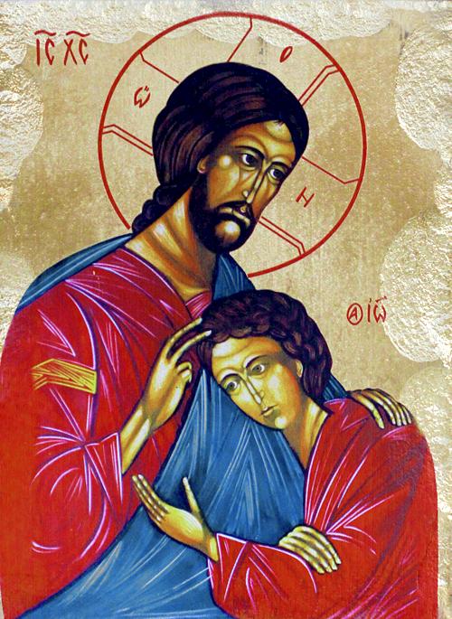 Икона на Исус Христос и апостол Йоан