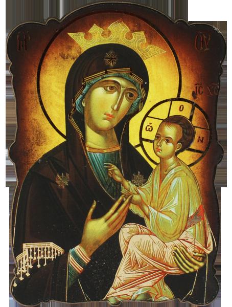 Магнит на Пресвета Богородица Всецарица със златно фолио