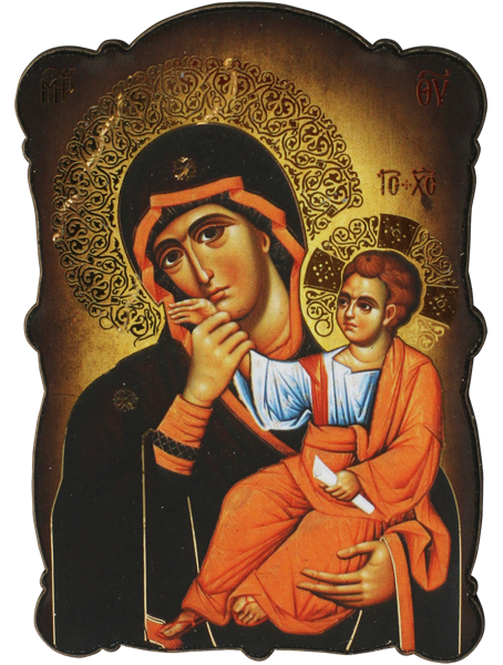 Магнит на Света Богородица - Отрада - Утешение със златно фолио