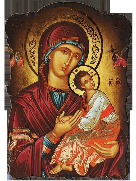 Магнит на Света Богородица Одигитрия със златно фолио