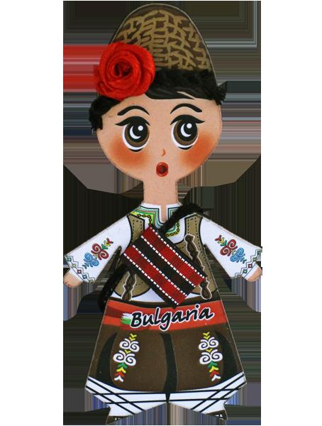 Магнит - кукла с фолклорен мотив, момче
