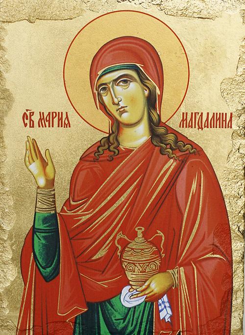 Репродукция на икона върху камък - Св. Мария Магдалена