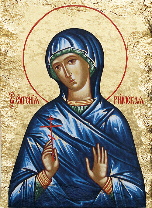 Репродукция на икона върху камък - Св. Евгения Римская
