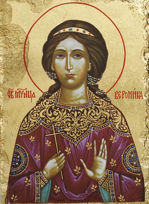 Репродукция на икона върху камък - Св. Великомъченица Вероника