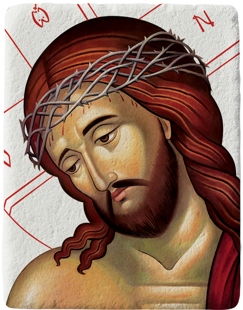 Магнит репродукция на икона Исус Христос