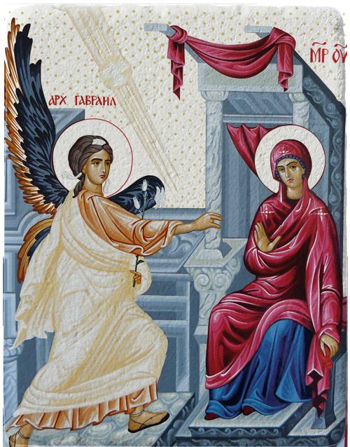 Магнит репродукция на икона Благовещение