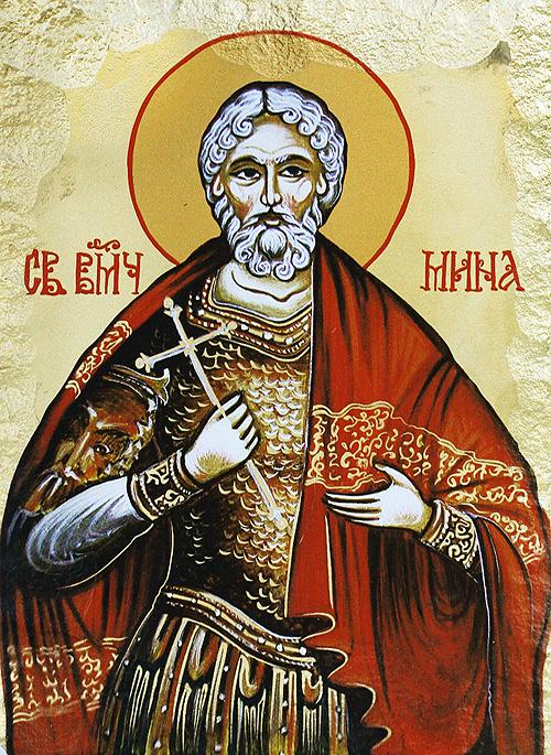 Икона на Свети великомъченик Мина