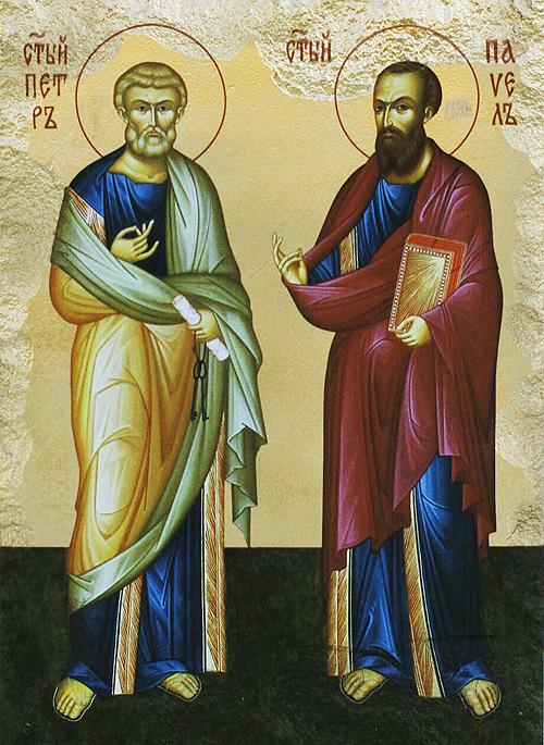 Икона на Свети първовърховни апостоли Петър и Павел
