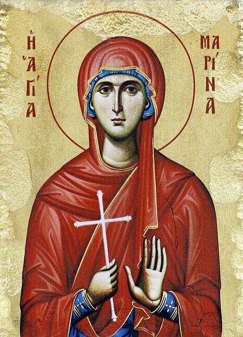 Икона на Света великомъченица Марина