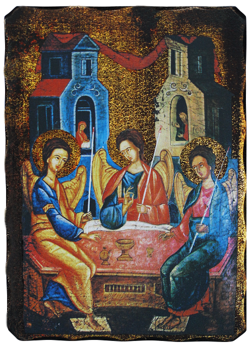 Икона репродукция на Света Троица Старозаветна