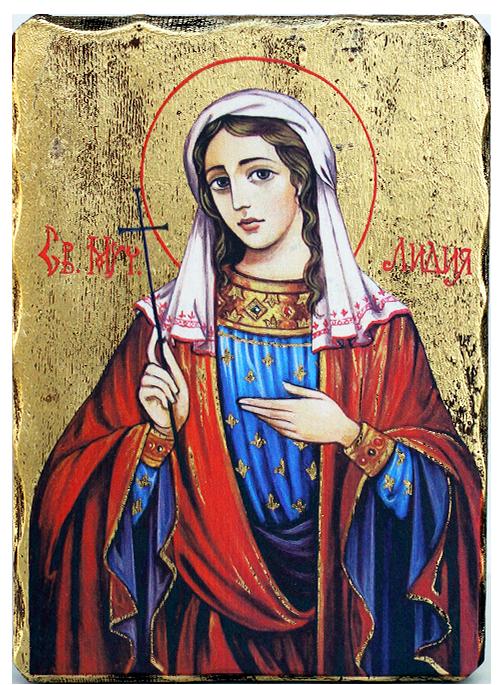 Икона на Света Лидия, луксозна, 162х225 мм