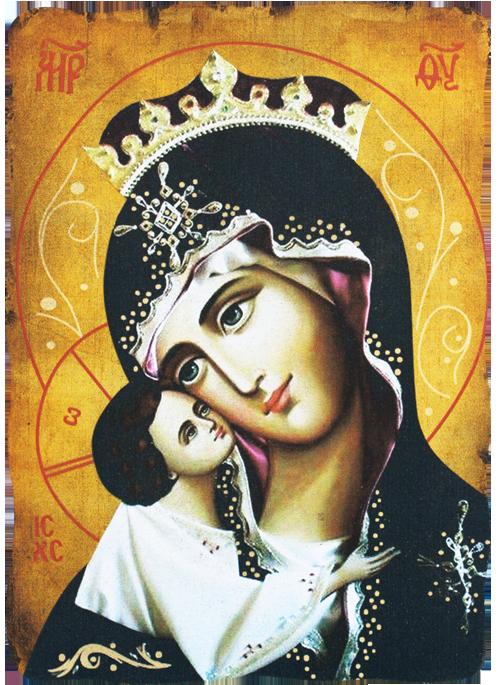 Икона репродукция на Света Богородица с Младенеца