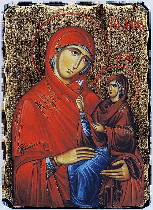 Икона на Света Анна със Света Богородица