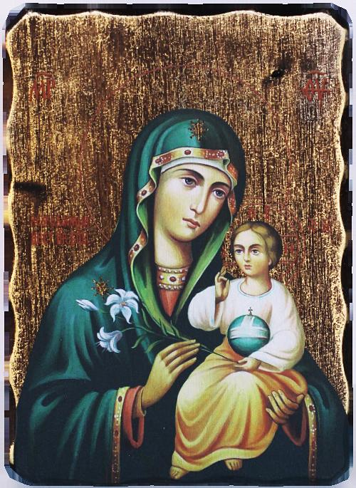 """Икона репродукция на Пресвета Богородица """"Неувяхващ цвят"""""""