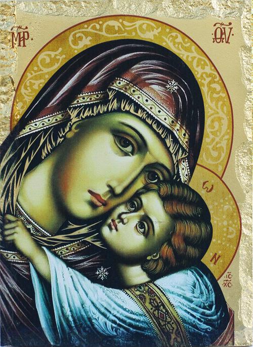 Икона на Света Богородица с Младенеца - Елеуса - Умиление