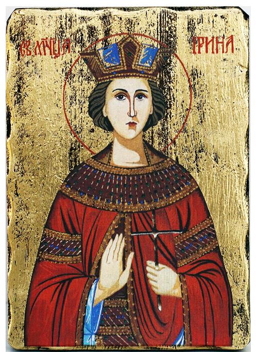 Икона на Света Ирина, луксозна, 162х225 мм