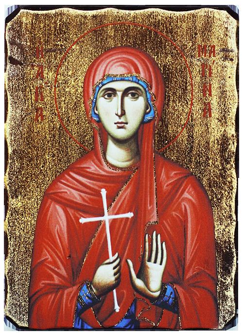 Икона репродукция на Света великомъченица Марина