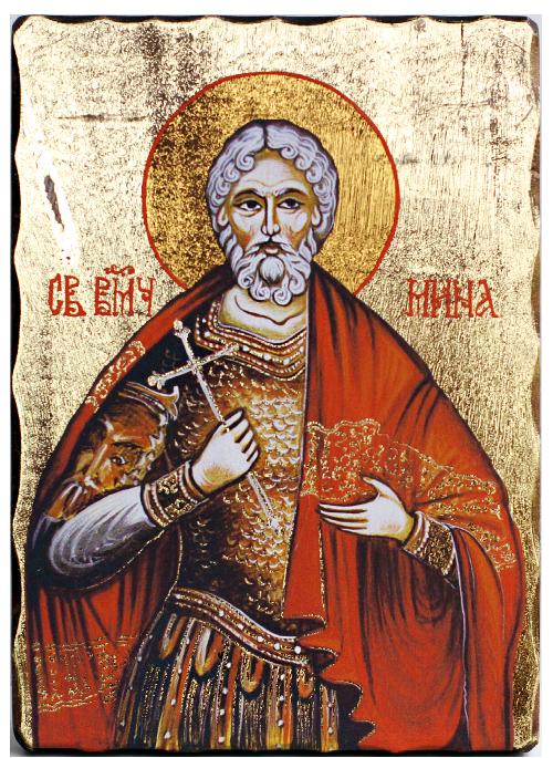 Икона репродукция на Свети великомъченик Мина