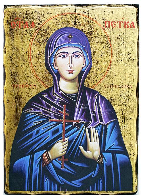 Икона репродукция на Света Петка